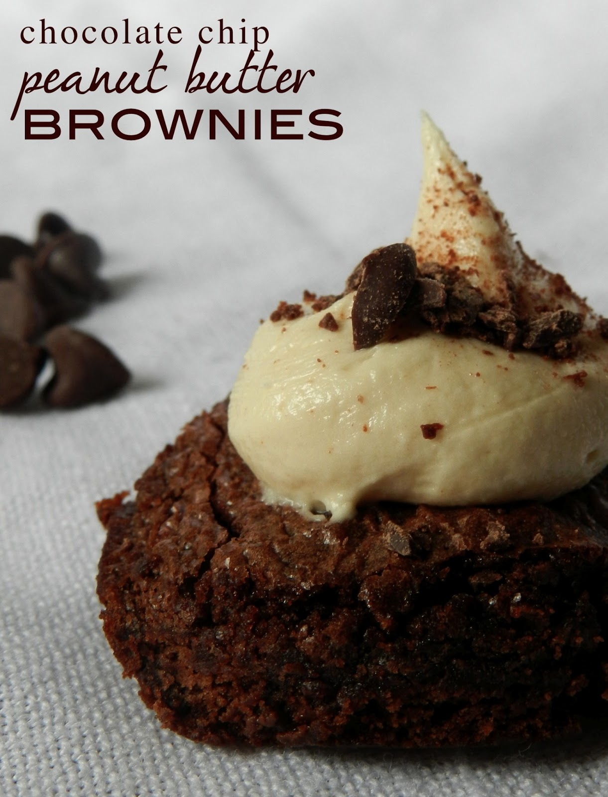 Easy Gourmet Brownies – Chocolate Chip Peanut Butter