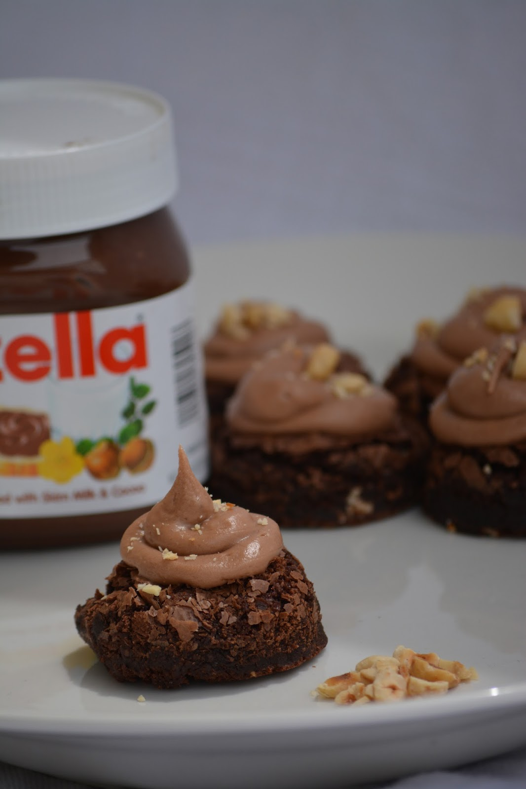 Hazelnut Brownies (with Nutella frosting)