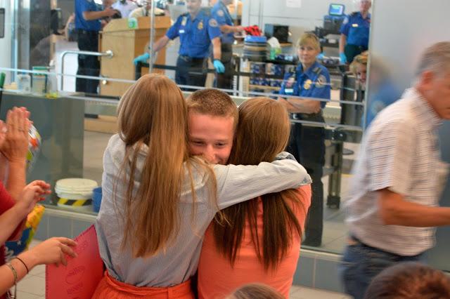 He's Home: a sweet reunion
