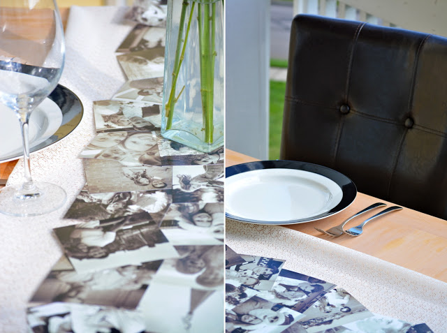 Anniversary Dinner Decor [with printed instagram photos] by Boston lifestyle blogger Elisabeth McKnight