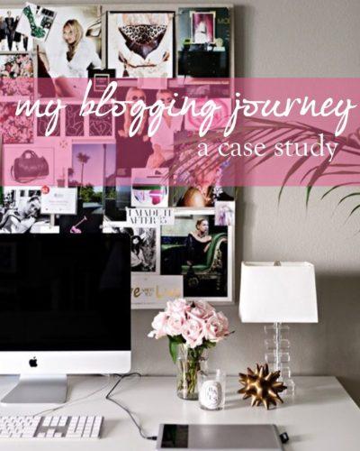 My blogging journey: a case study