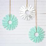 Mint Color Burst Wreath DIY // $5