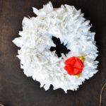 DIY Tissue Wreath // $5