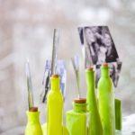 Painted Bottles Photo Display DIY