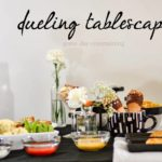 Game Time Entertaining Ideas Pt 1: Dueling Tablescape
