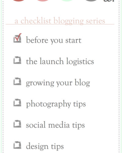 Blog It // starting a blog