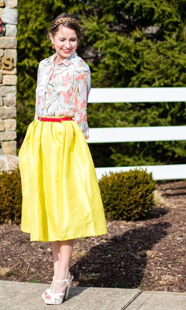 Midi Skirt // Spring Hues