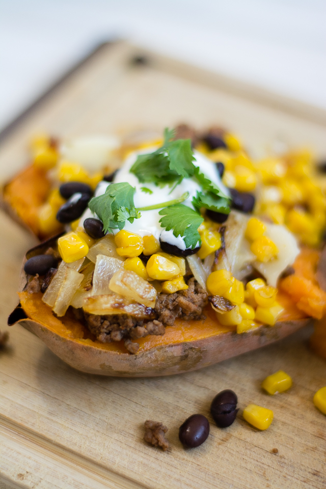 Loaded Habanero Sweet Potatoes