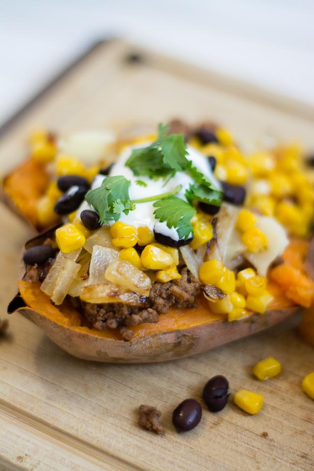 Loaded Habanero Sweet Potatoes