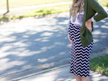 Maternity Style // Fall Pattern Mixing