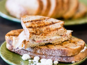 delicious and simple goat cheese panini recipe