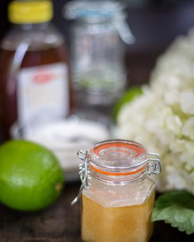 DIY Honey Lime Lip Scrub