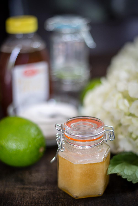 DIY Honey and Lime Sugar Lip Scrub