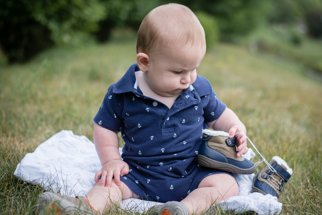 Baby Update + His First Pair of Shoes