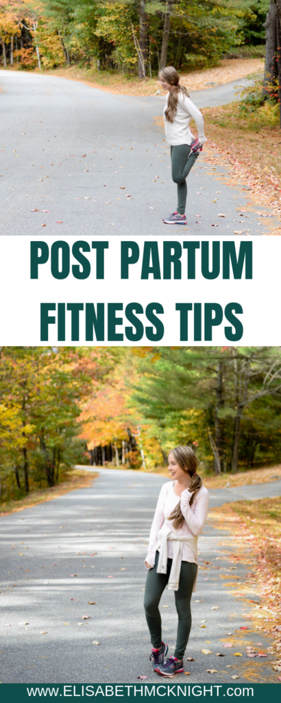 I'm sharing all of my tried and true postpartum fitness tips! #postpartumfitness #exercisemotivation #postpartumworkout