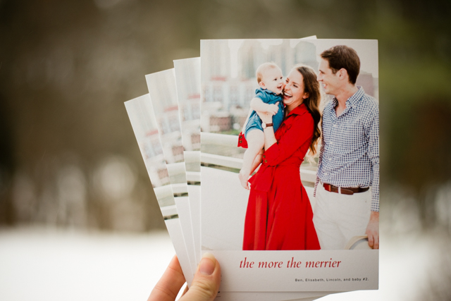 the more the merrier christmas card pregnancy announcement idea - Pregnancy Announcement Christmas Card