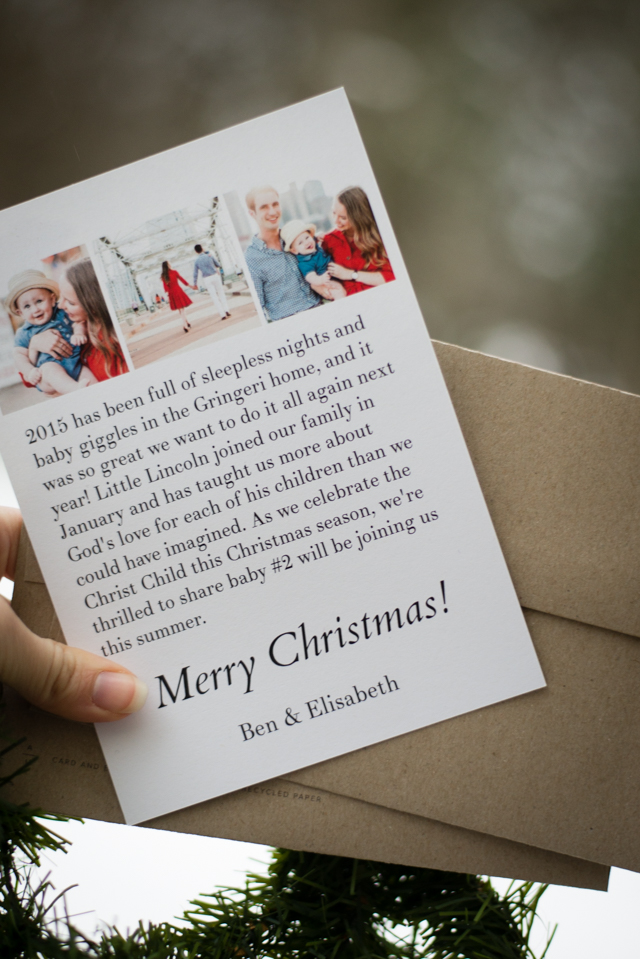 The More the Merrier: Christmas Card Pregnancy Announcement Idea ...