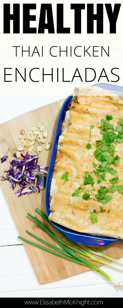 love these thai chicken enchiladas! They're easy, health, and make for a great freezer meal.