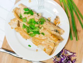 Healthy Thai Chicken Enchiladas