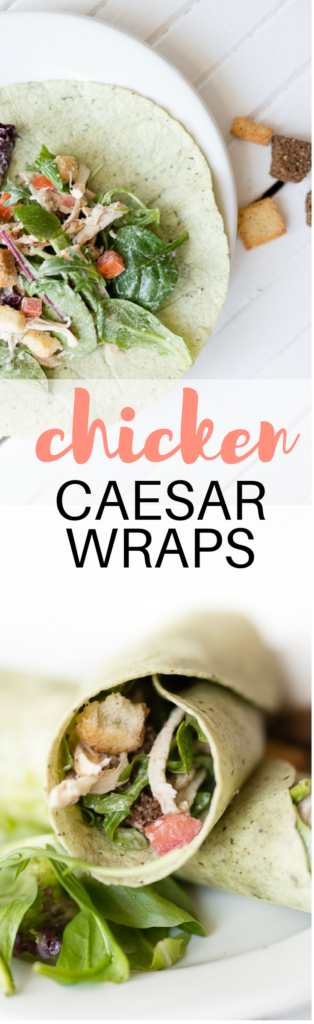 this easy chicken caesar salad recipe is delicious and perfect for making ahead and eating all week.