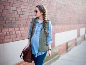 Denim x Denim Maternity Style