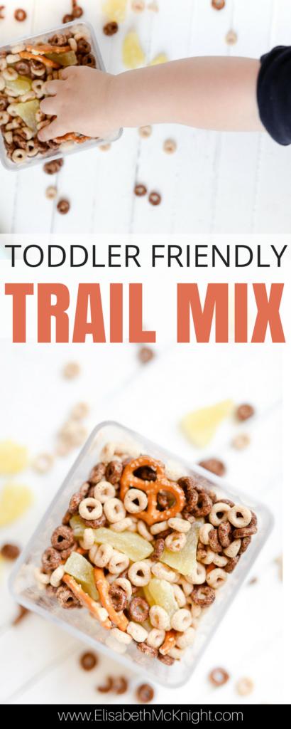 simple toddler snack idea - trail mix recipe