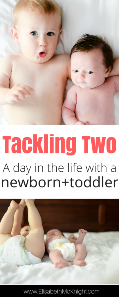with a baby and a toddler it can be hard to find a routine so here's a glimpse into the daily schedule of a stay at home mom with two under two (newborn + toddler)