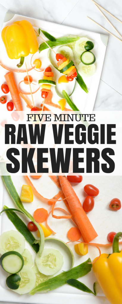 eat the rainbow - whether you're entertaining or trying to get your toddler to eat vegetables, these raw veggie skewers are easy and tasty (and the recipe includes a grilled option too)