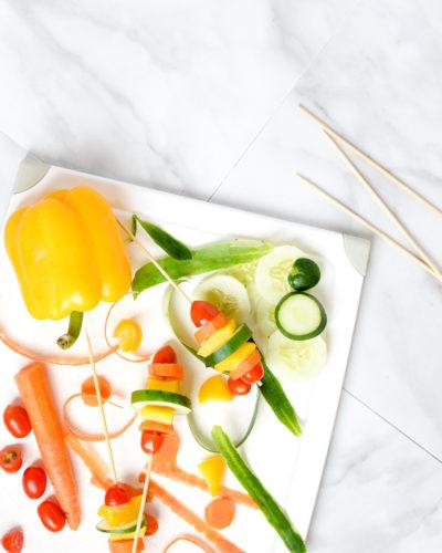 Eat the Rainbow // Raw Vegetable Skewers