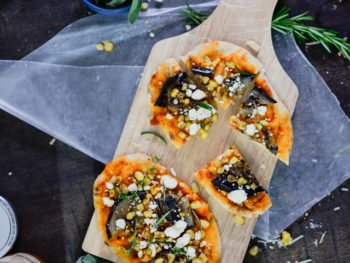 Grilled Eggplant and Goat Cheese Pizza