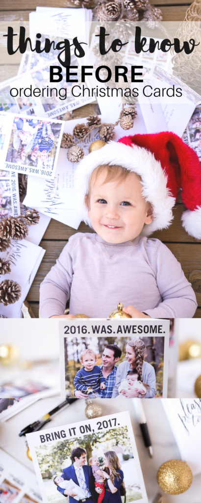 things to know BEFORE ordering Christmas card photos (that will make the whole process a bit less stressful)