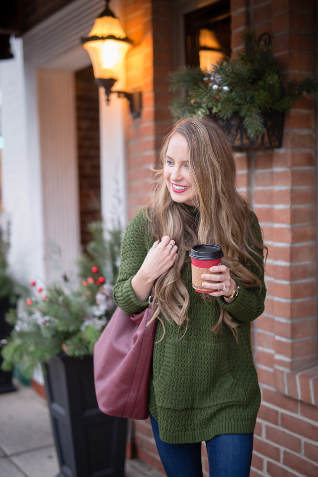 cozy holiday sweater perfect for casual get togethers and evenings by the fire