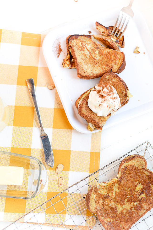 this eggnog french toast recipe would be great for Christmas morning or holiday brunch!