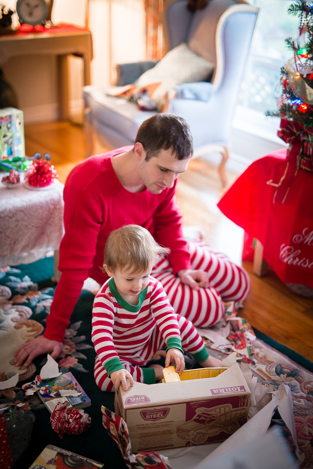 first christmas morning with toddlers and babies