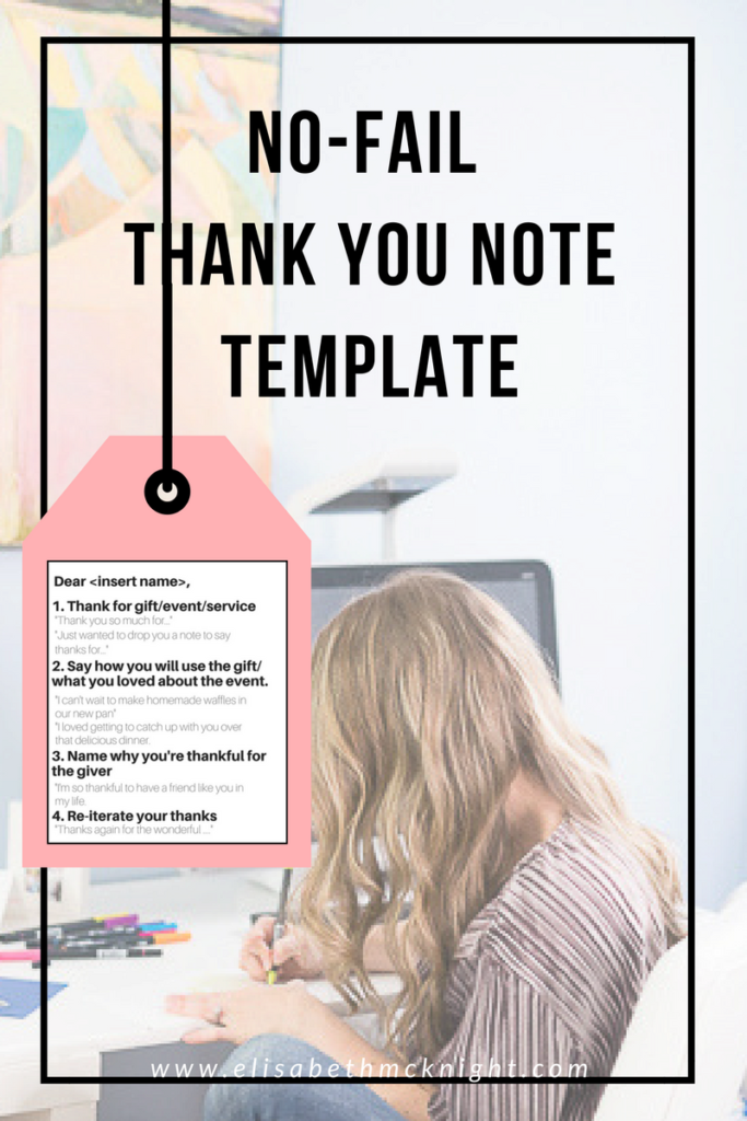 this easy to follow template shows you how to write a thank you card for any occasion (wedding, birthday, event) - so helpful!