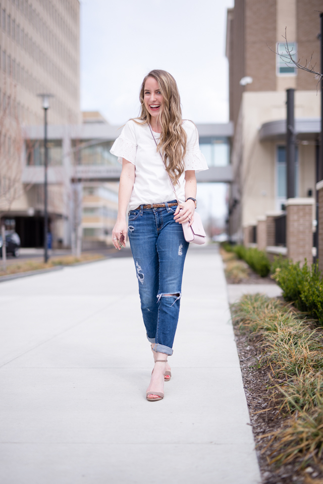 perfect white tee for spring that is anything but basic