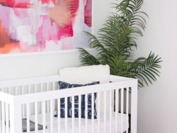 Girl's Mid Century Modern Nursery with product links