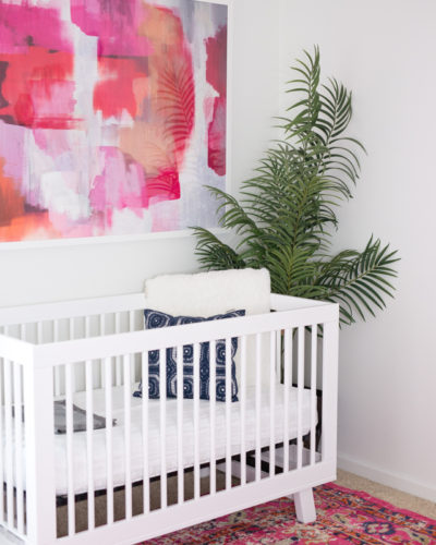 Girl's Midcentury Modern Nursery with product links