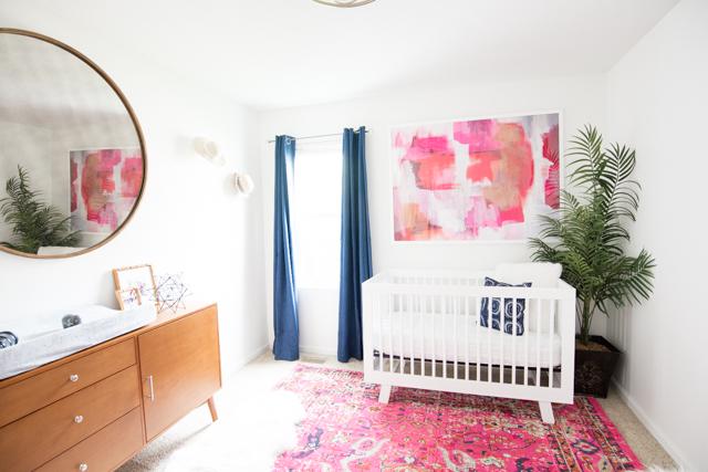 Girl S Mid Century Modern Nursery With Product Links