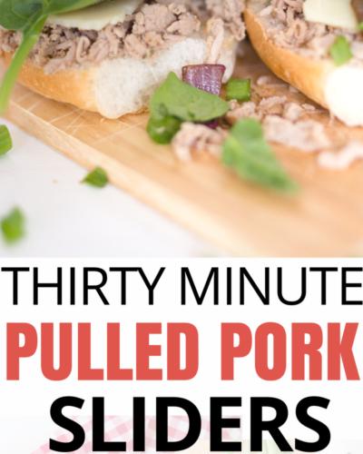 30 Minute Easy Garlic and Herb Pulled Pork Sliders