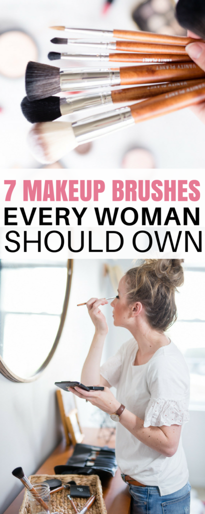 ever wonder what makeup brushes you need in your makeup bag? these are the best 7 brushes every woman needs.