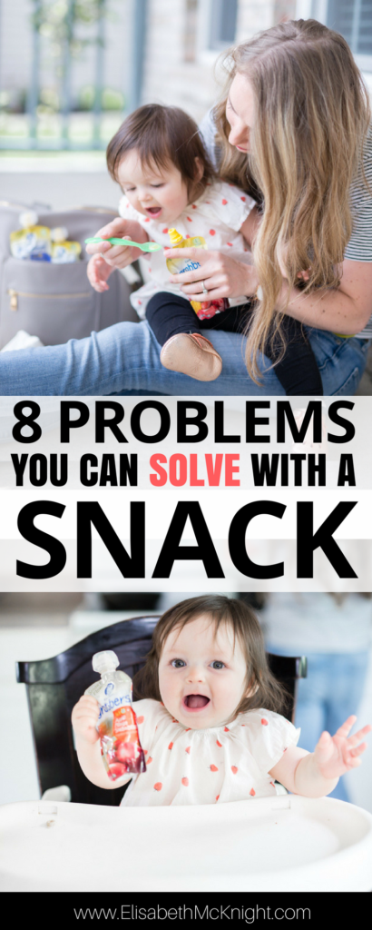 8 times a snack can save you as a mom of babies/ toddlers - I wish I would have thought of #1 earlier!