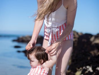 Mommy + Me Matching Swim on the California Coast