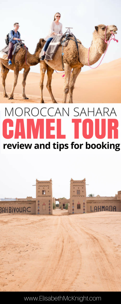 traveling to Morocco? Such an in depth review of the camel ride/trek through the Sahara desert including what to wear, what to bring, and other tips for booking. Don't miss this highlight if you're wondering what to do in Morocco!