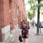 Fall Floral Bell Sleeved Dress