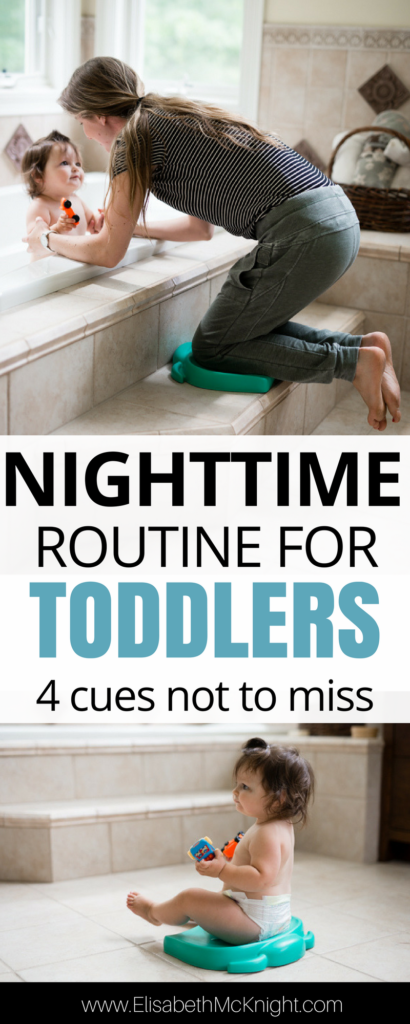 4 cues not to miss when putting together a nighttime routine for your infant or toddler that make it easy to get them to sleep, no matter where you are