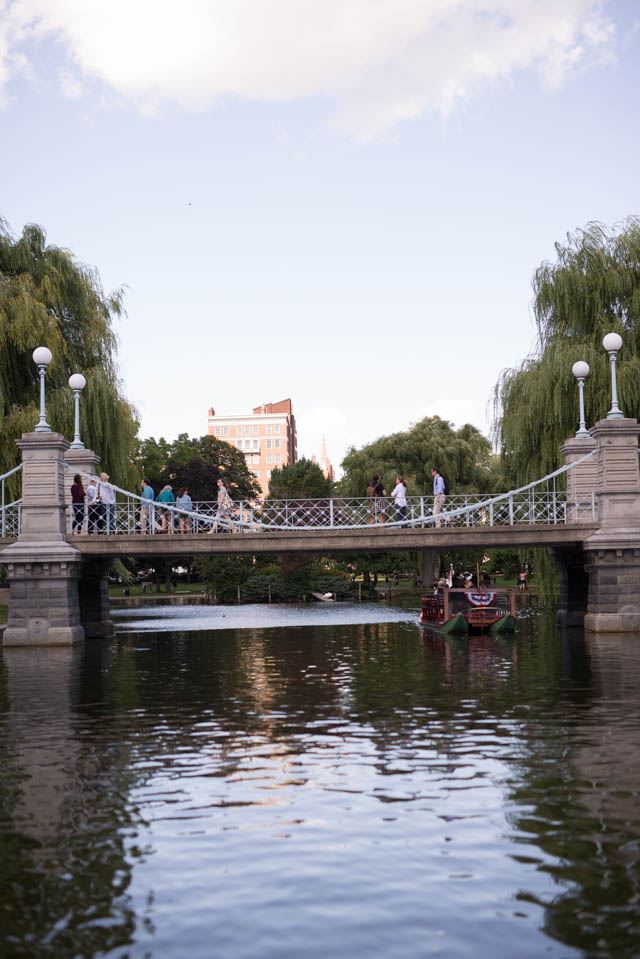 Swan Boats in Boston Public Gardens by Boston mom blogger Elisabeth McKnight