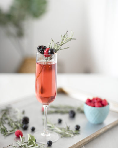 Holiday Mocktail: Triple Berry and Rosemary Spritzer Recipe