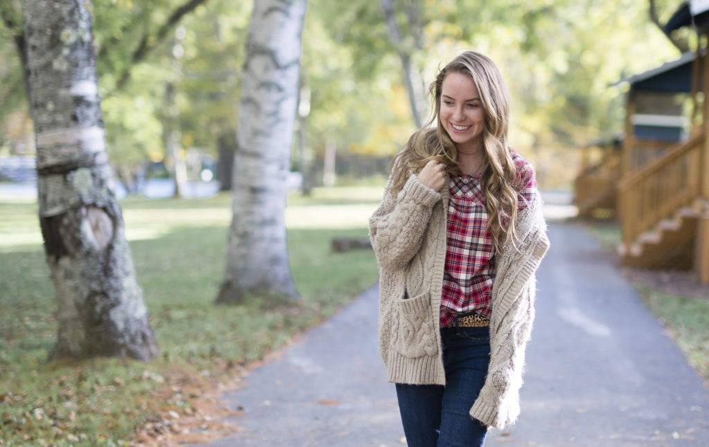 Plaid Flannel and Oversized Sweater by Boston style blogger Elisabeth McKnight