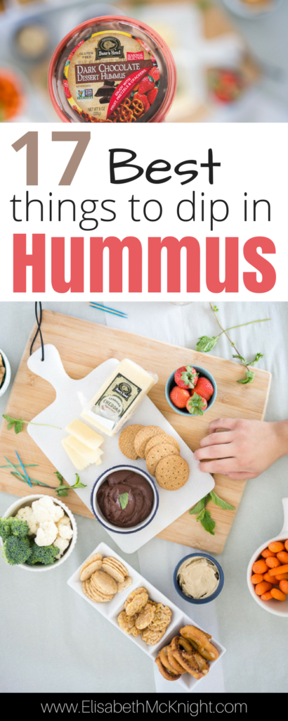 My favorite hummus + 17 of the best things to dip in it